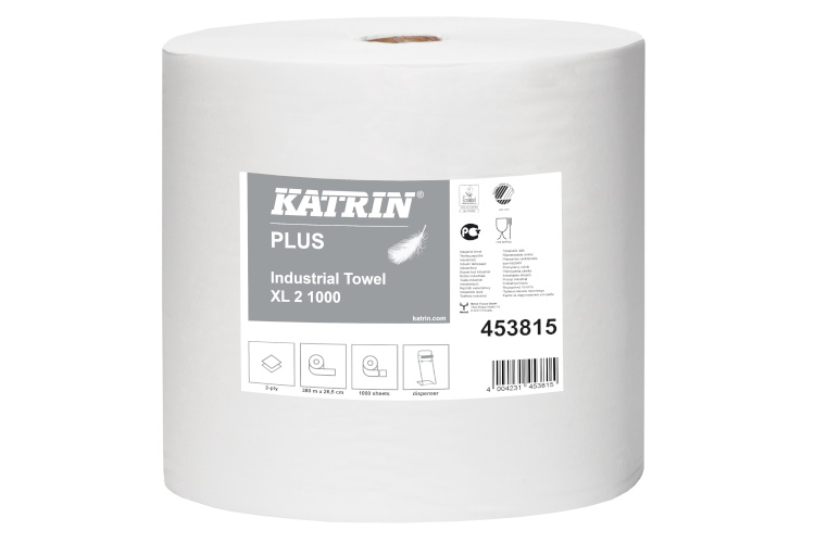 Katrin plus XL white industrial roll 2 ply