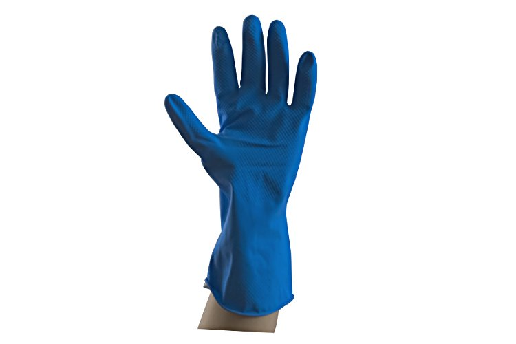 01 Household glove blue medium