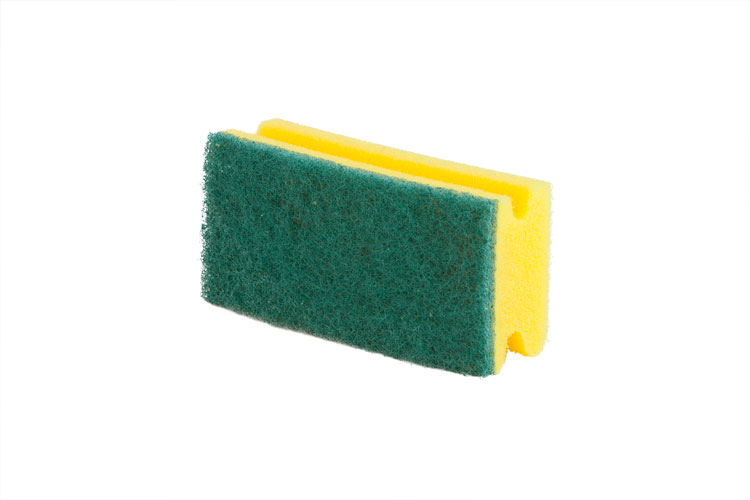 Yellow Foam Back Scourer
